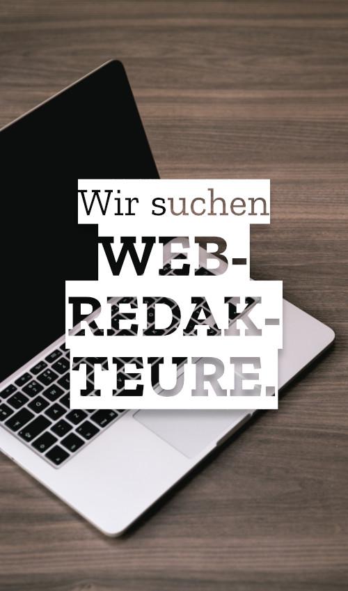 Stellenausschreibung: Webredakteur gesucht