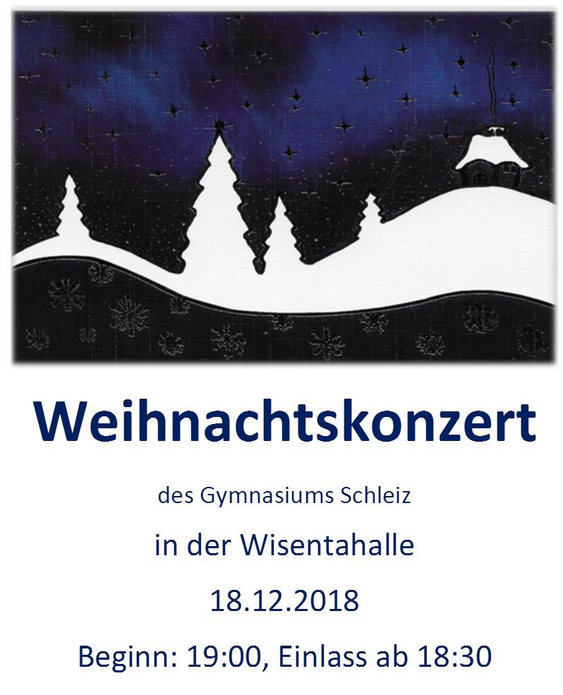 Weihnachten Duden.Einladung Zum Weihnachtskonzert 2018 Staatliches Gymnasium Dr