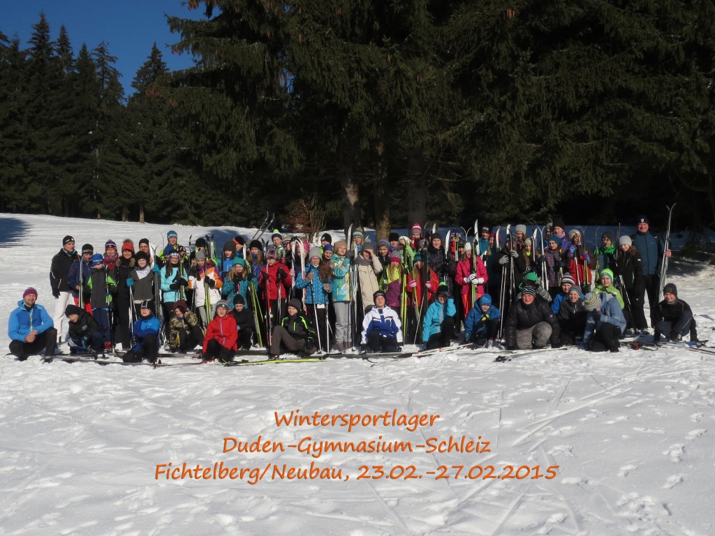 Teilnehmer Skilager 2015
