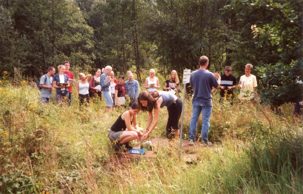 Schülerinnen und Schüler des Geografiegrundkurses