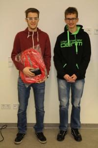 Christopher Grüner (Gewinner) & Simon Oertel (Webteam)