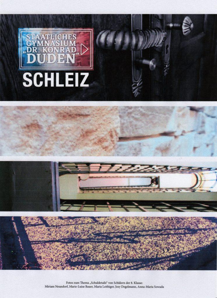 Deckblatt des immerwährenden Kalenders des Dr.-Konrad-Duden-Gymnasiums