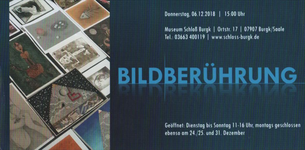 """Einladung zur Ausstellung """"Bildberührung"""""""